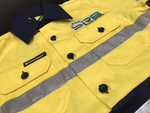 Workcraft hivis shirt with srb excavations embroidered. Service used was Custom Workwear in Coffs Harbour