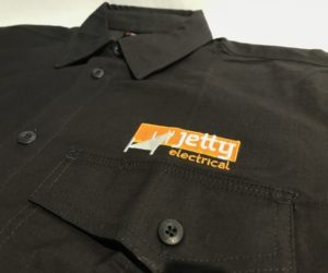 Embroidery Services Coffs Harbour on King Gee Workwear. Featured - Jetty Electrical