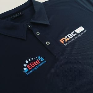 Stencil Polo shirt with digital printing