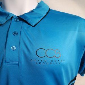 printed coffs coast security polo shirt