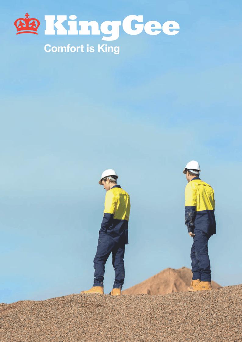 KingGee Catalogue Cover