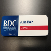 name badges coffs with bdc sublimated print