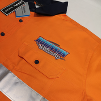Custom Workwear Coffs Harbour with Robisons Earthmoving logo