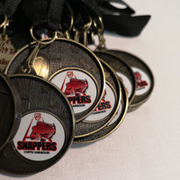 trophys and medals coffs - snappers logo on medals