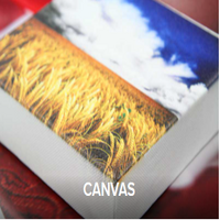 UV sample print on canvas - Wheat & sky photo